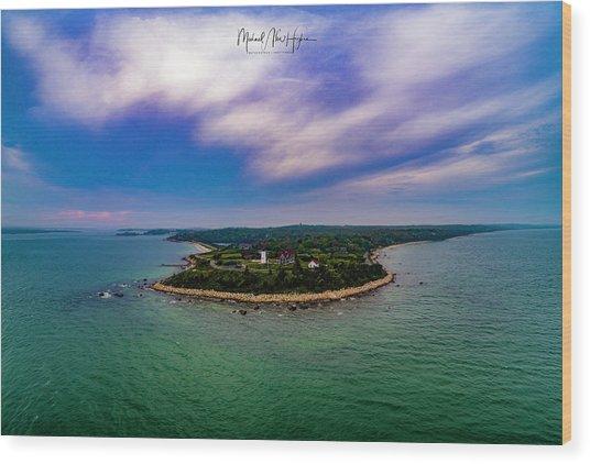 Nobska Lighthouse Panorama Wood Print