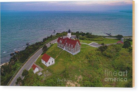 Nobska Point Lighthouse Wood Print