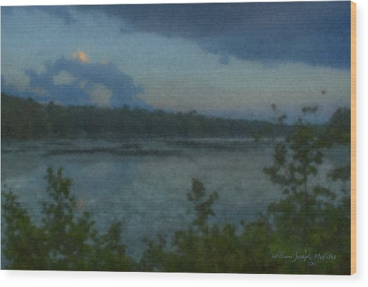 Nocturne At Ames Long Pond Wood Print