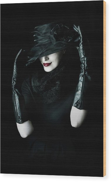 Noir Wood Print by Cambion Art