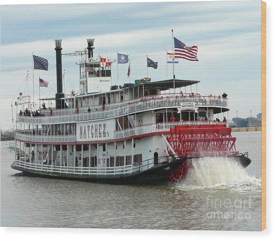 Nola Natchez Riverboat Wood Print
