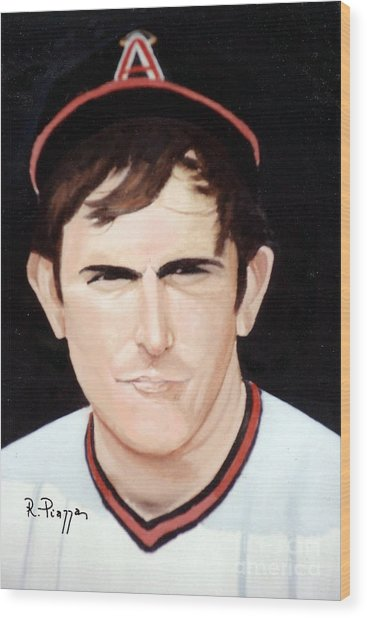 Nolan Ryan With The Angels Wood Print
