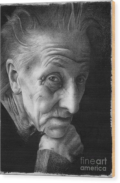 Nonna Wood Print by David Vanderpool