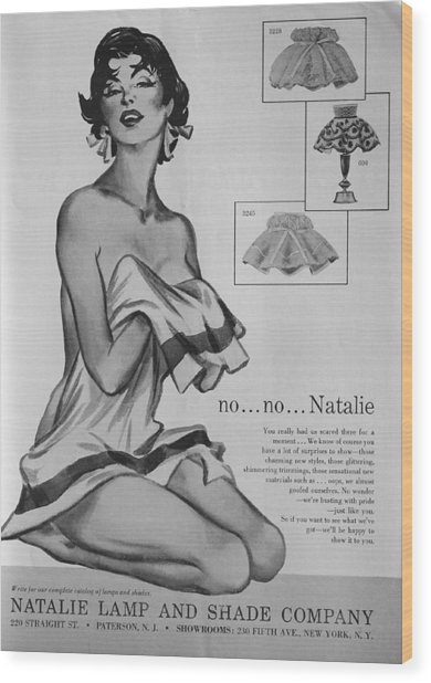 Wood Print featuring the digital art no...no... Natalie by Reinvintaged