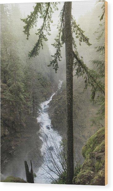 Wonderful Waterfall Wood Print
