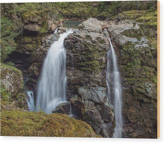 Nooksak Falls Wood Print