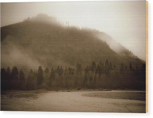Noosack Fog Wood Print