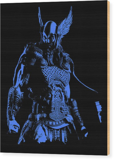 Nordic Warrior Wood Print