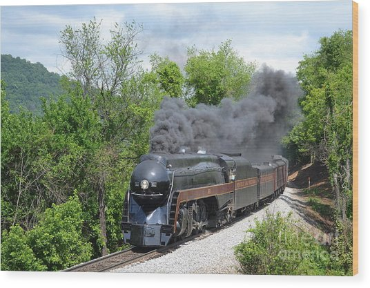 Norfolk And Western Class J #611 Wood Print by Steve Gass