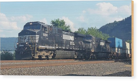 Norfolk Southern Ge C44-9w At Duncannon, Pa Wood Print