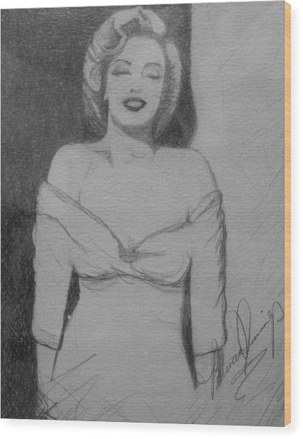 Norma Jean Wood Print