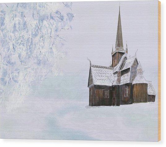 Norsk Kirke Wood Print