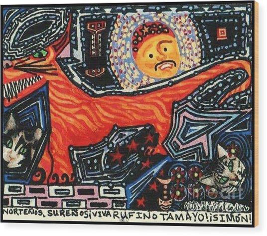 Nortenos Surenos Viva Rufino Tamayo Simon Wood Print