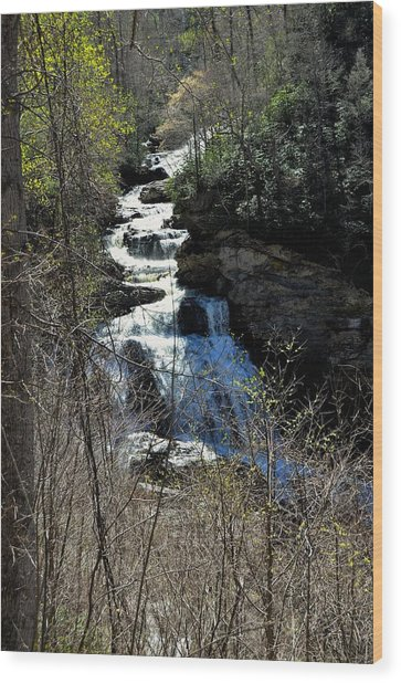 North Carolina Falls Wood Print