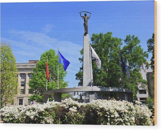 North Carolina Veterans Monument Wood Print