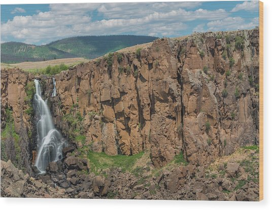 North Clear Creek Falls, Creede, Colorado 2 Wood Print