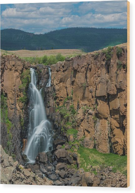 North Clear Creek Falls, Creede, Colorado Wood Print