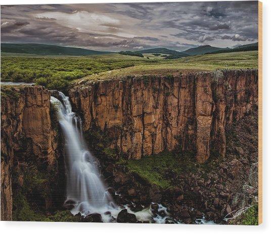 North Clear Creek Falls Wood Print
