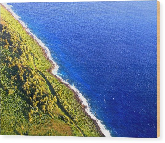 Wood Print featuring the photograph North Coast Of Tinian At Sunrise by MB Dallocchio