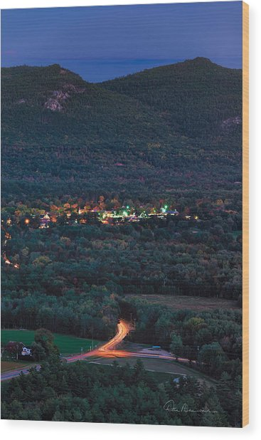 North Conway Dusk 6888 Wood Print