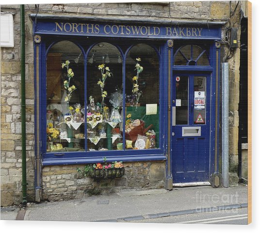 North Cotswold Bakery Wood Print