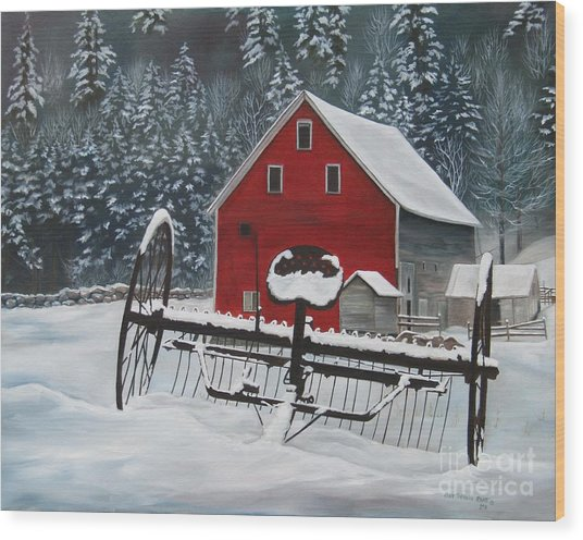 North Country Winter Wood Print