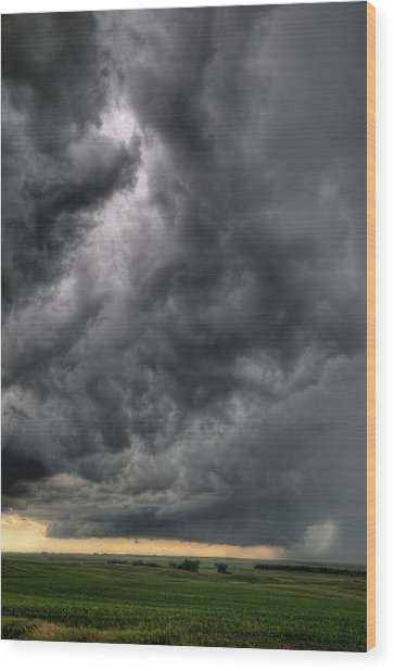 North Dakota Thunderstorm Wood Print