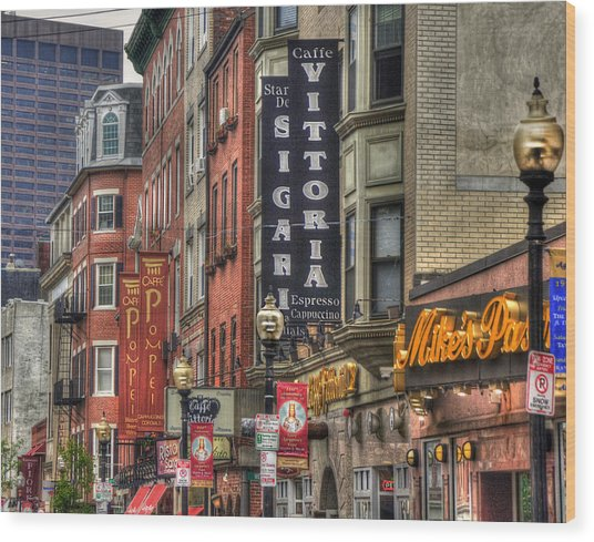 North End Charm 11x14 Wood Print