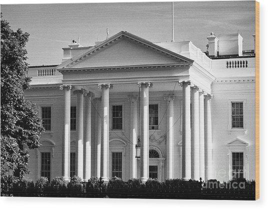 north facade of the White House Washington DC USA Wood Print