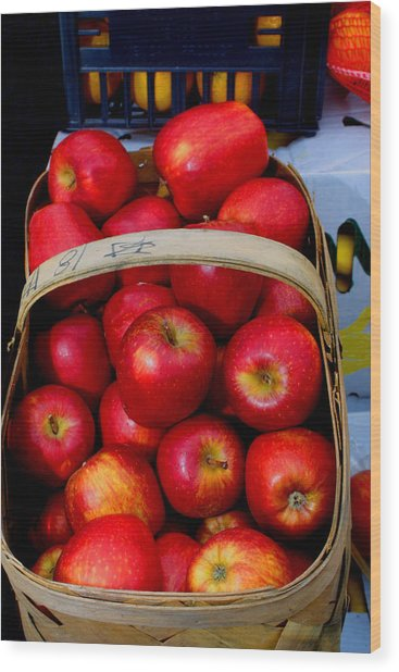 North Ga. Apples Wood Print by Ralph  Perdomo