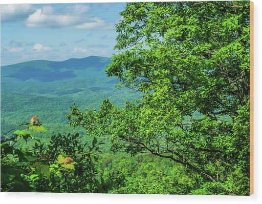North Georgia Mountains Wood Print