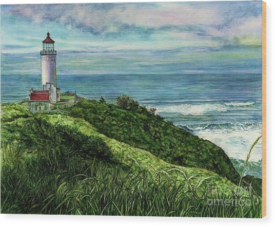 North Head Lighthouse And Beyond Wood Print