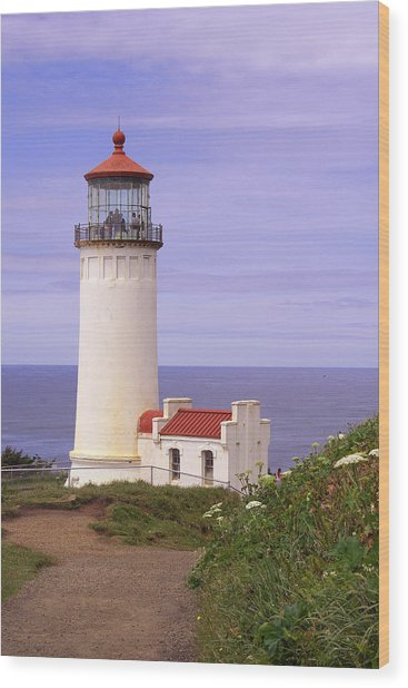 North Head Lighthouse Li 2000 Wood Print by Mary Gaines
