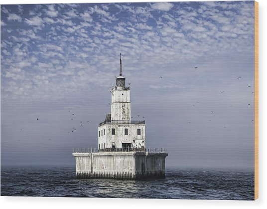 North Manitou Shoal Light Wood Print