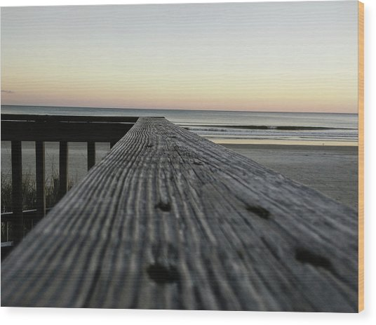 North Myrtle Beach Evening Wood Print