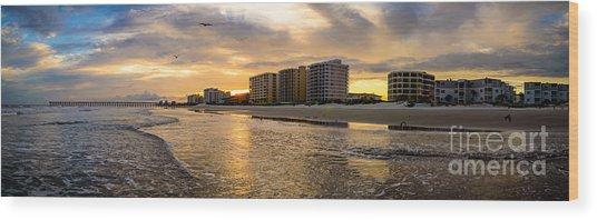 North Myrtle Beach Sunset Wood Print