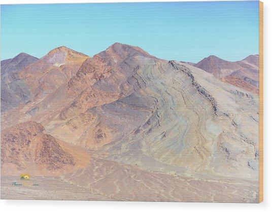 Wood Print featuring the photograph North Of Avawatz Mountain by Jim Thompson