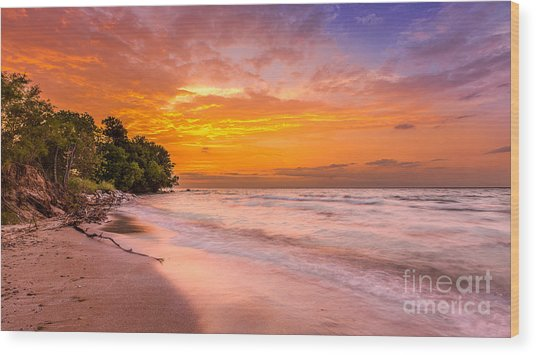 North Point Sunrise Wood Print