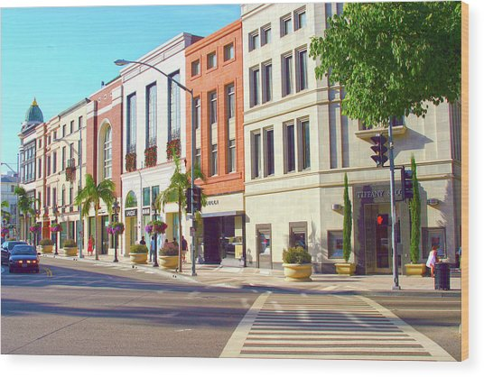 North Rodeo Drive Wood Print