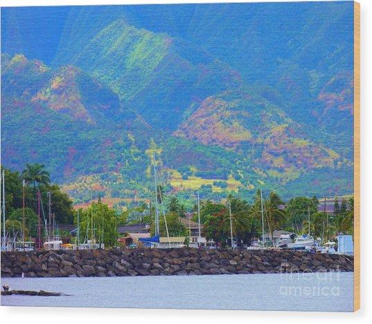 North Shore Haleiwa Hawaii  Wood Print