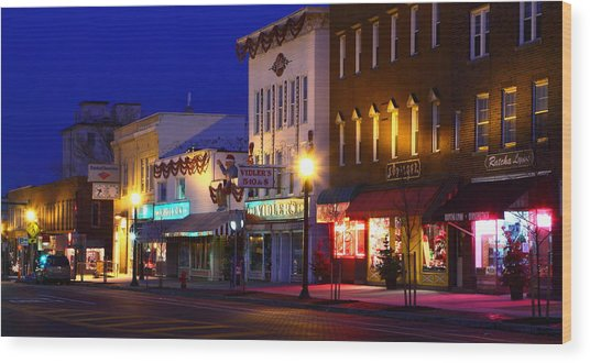 North Side Of East End Of Main Street Wood Print