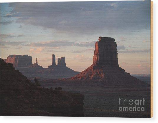 North Window At Sunset Wood Print