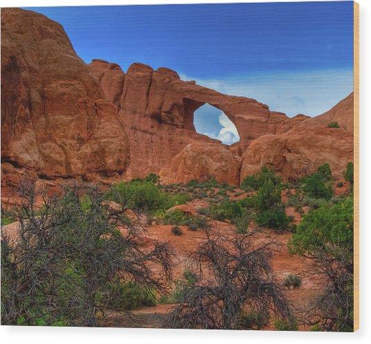 North Window Portal Wood Print
