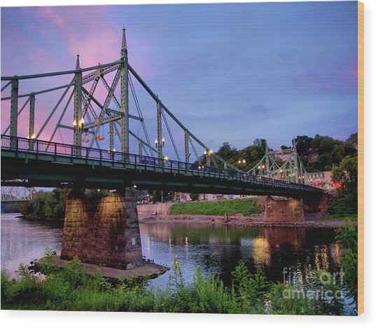 Northampton Street Bridge At Sunset Wood Print