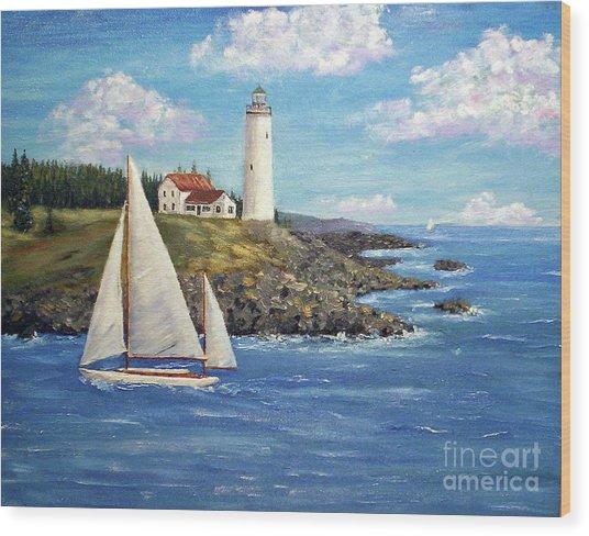 Northeast Coast Wood Print