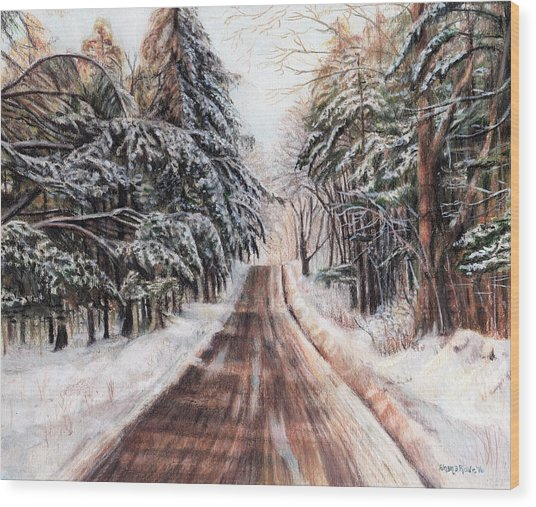 Northeast Winter Wood Print
