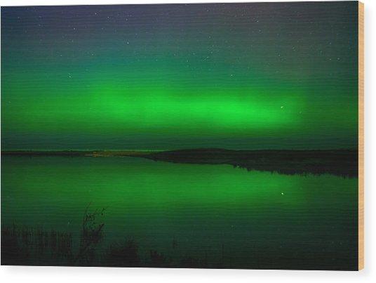 Northen Lights Wood Print