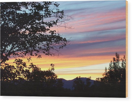 Northern Ca June Sunset  Wood Print by Angie Anliker