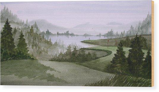 Northern Lake Golf Wood Print by Sean Seal