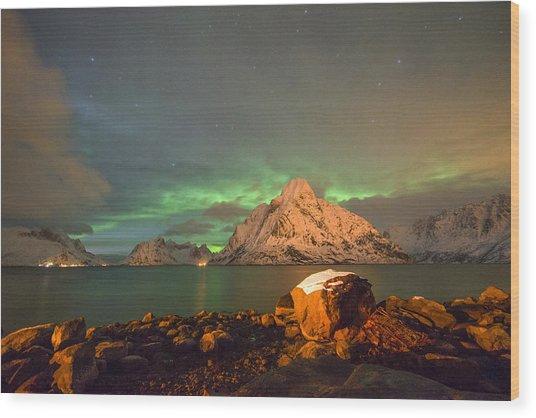 Spectacular Night In Lofoten 3 Wood Print